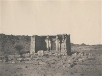 ruines du temple de tafa, nubie by félix teynard