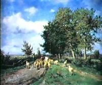 le retour du troupeau by léonce chabry