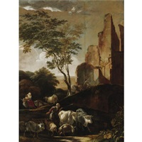 peasants driving cattle by adam de colonia