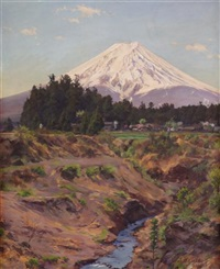 mount fuji (river bridge by fortune) by eisaku wada