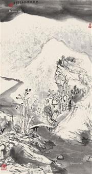 江南瑞雪图 立轴 水墨纸本 by ya ming