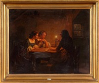 la cartomancienne à la lueur de la bougie by hendrick joseph dillens