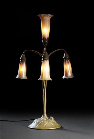 lily table lamp bordslampa model 313 by louis comfort tiffany