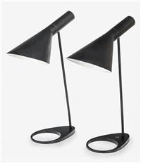 aj table lamps (pair) by arne jacobsen