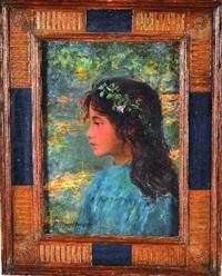 portrait de jeune fille by jeanne lauvernay-petitjean
