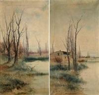pareja de paisajes (pair) by ramiro lafuente