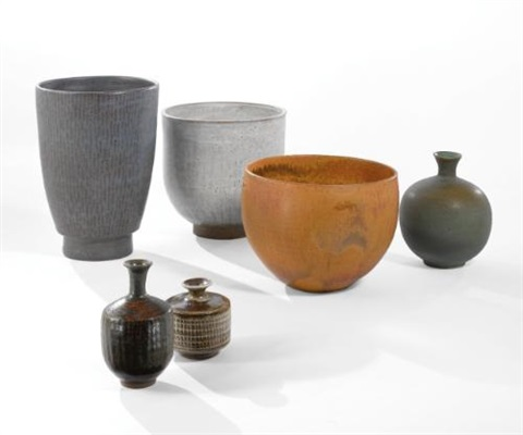 vases set of 6 by laura andreson