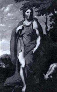 saint john the baptist standing in a landscape by josé (jusepe) leonardo de chavier