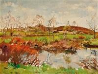 landscape in drente by erasmus bernhard van dulmen krumpelman