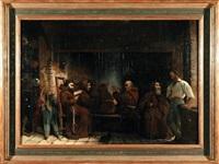 mnisi przy kominku by hugues picard