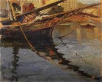 barche in porto by mario avallone