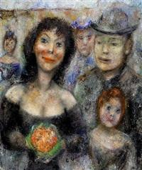 la brune à une fille rousse by édouard joseph goerg