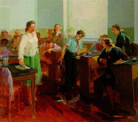 children in the classroom by zhenia arutyunyan