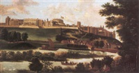 view of windsor castle from the thames by hendrick danckerts