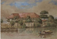 a house on the rio pasig, manila by charles w. andrews