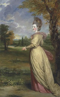 portrait of lady frances marsham, later countess of romney (1755-1795) by joshua reynolds