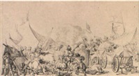 battle scene by hyacinthe de la peigne