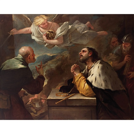 El Arrepentimiento Del Rey David By Luca Giordano On Artnet
