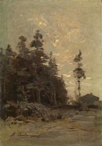 forest landscape by ivan ivanovich endogouroff
