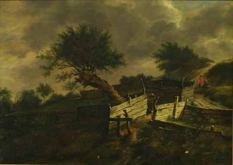 after ruysdael by irma komlósy