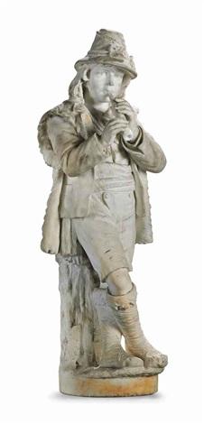 untitled (boy playing pipe) by adriatico froli
