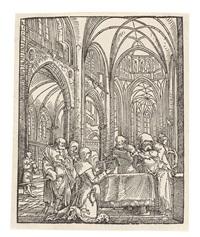 die darbringung christi im tempel (in einer gotischen kirche) by wolf huber