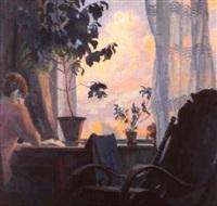 la soiree a la fenetre by yuri mikhailovich kruglov