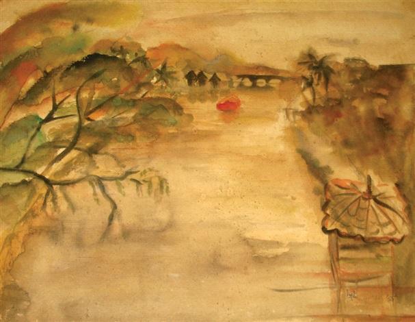 river scene by benedicto cabrera