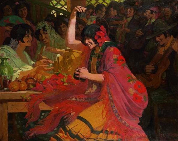 les danseurs de flamenco by marius ernest joseph azema