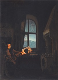 faust in his study by carl christian andersen