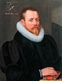 előkelő úr portréja by gortzius geldorp
