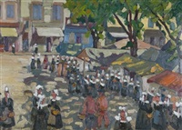 the market, concarneau by jean paul garapin