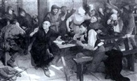 françois villon in a tavern by amedee forestier