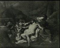 le christ mort pleure par la vierge et les anges by bertholet i flemal