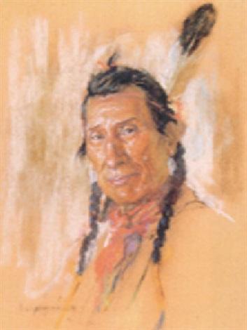 Blackfoot Indian brave by Nicholas de Grandmaison on artnet