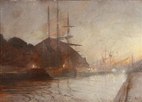 view from copenhagen harbour by harry kluge