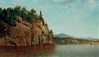 split rock island, lake champlain by david johnson
