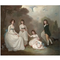 group portrait of children by francis alleyne