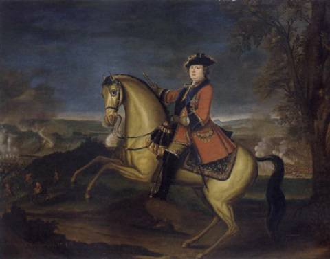 an equestrian portrait of william augustus duke of cumberland in the frock uniform of the first guards with the ribbon and star of the garter by david morier
