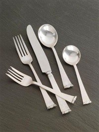 modern georgian flatware service (set of 208) by allan adler