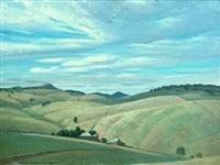 pastoral landscape by sir daryl ernest lindsay