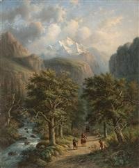 landschaft im hochgebirge by alexander joseph daiwaille