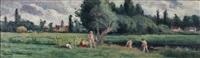 baigneurs, les environ de bessy (yonne) by maximilien luce