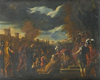 volumnia before coriolanus by niccolò de simone