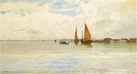 on the lagoon, venice by vincenzo cabianca