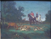 scène de chasse by jean pezous