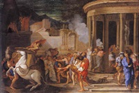 synorix emmené hors du temple d'artémis by thomas blanchet