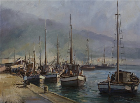 Fishing boats cape town by christiaan nice on artnet for Nice fishing boats