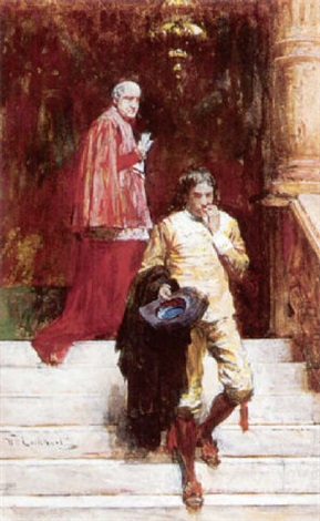 a meeting with the cardinal by william ewart lockhart