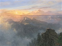 north rim sunrise by mark weber